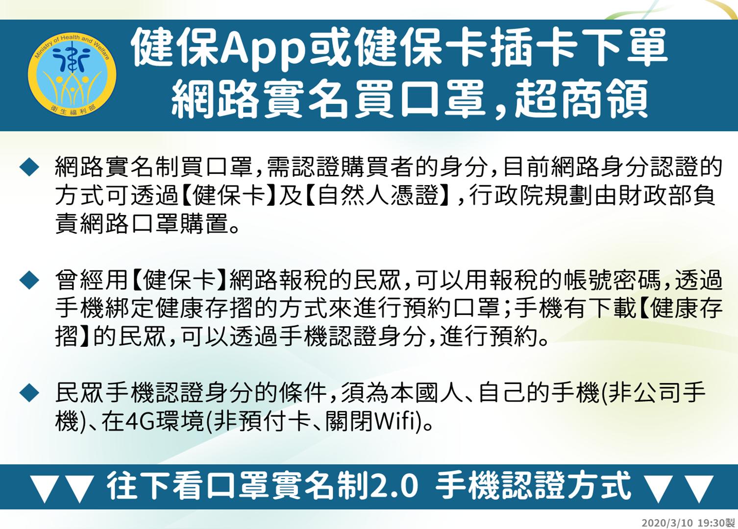 口罩實名制2.0∥ 預購口罩超商取貨之四大超商領口罩優惠活動_4月1日更新