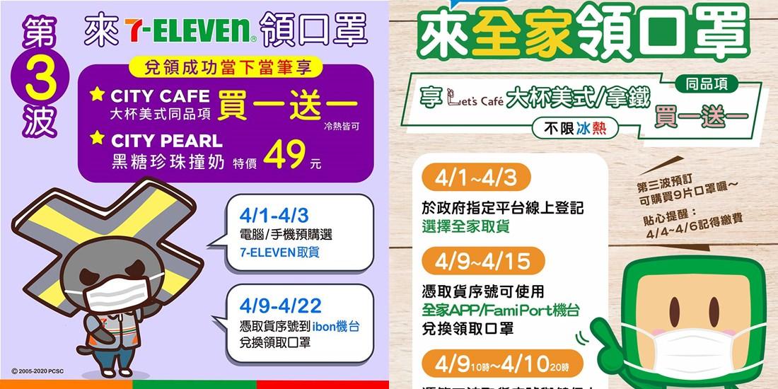 口罩實名制2.0∥ 預購口罩超商取貨之四大超商領口罩優惠活動_4月8日更新