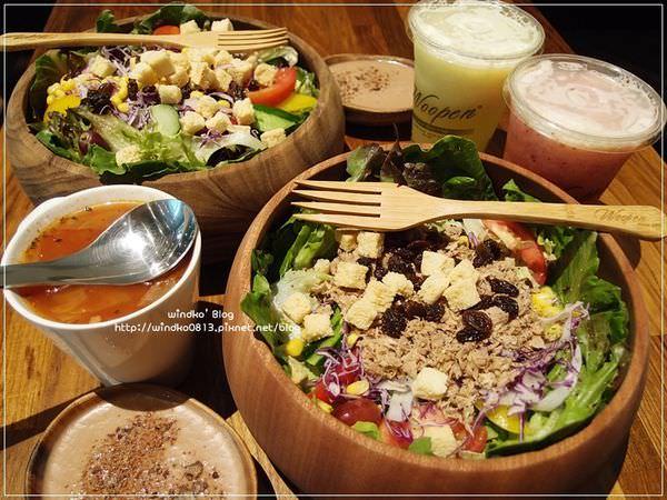 食記∥ 高雄三民。Woopen木盆輕食館(文山特區分店) – 新鮮又清爽的大木盆沙拉,讓我N訪的早午餐好味道
