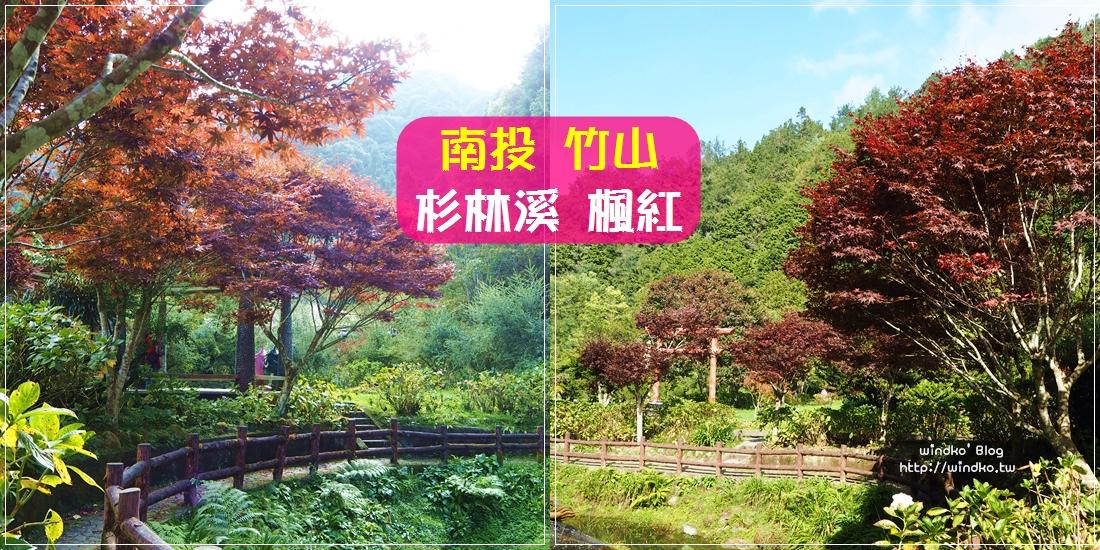 南投竹山∥ 杉林溪 秋天美景楓紅,上山涼爽的賞楓景點