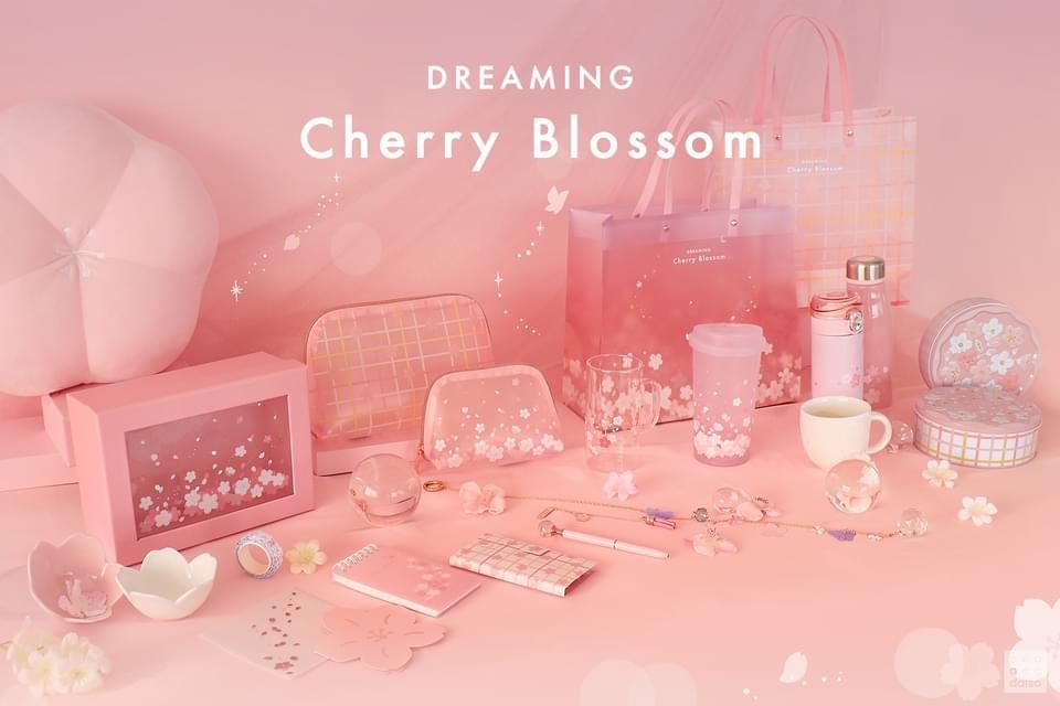 韓國大創櫻花季∥ 다이소 DAISO 2021春天櫻花系列產品,就是要少女心地粉嫩登場_2021 Dreaming Cherry_Blossom