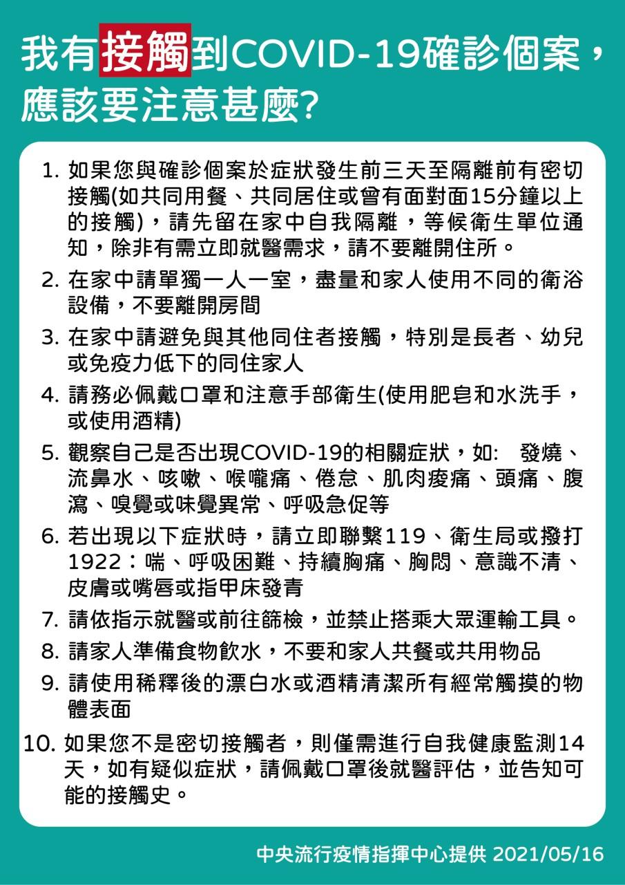 2021台灣防疫資訊∥ 確診武漢肺炎怎麼辦?接觸過確診個案該做什麼?